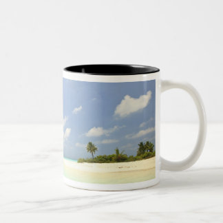 Mathidhoo Island, uninhabited, North Huvadhoo 3 Two-Tone Coffee Mug
