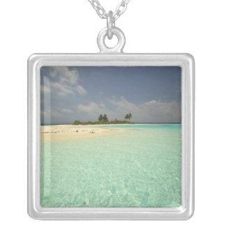 Mathidhoo Island, uninhabited, North Huvadhoo Silver Plated Necklace