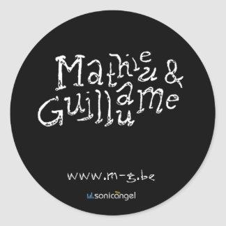 Mathieu & Guillaume Classic Round Sticker