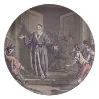 Mathieu Mole (1584-1656) harangued by the people, Dinner Plate