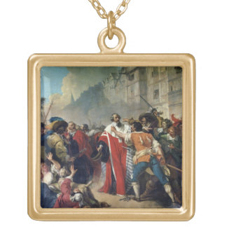 Mathieu Mole being stopped by the Parisian crowd o Gold Plated Necklace