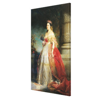 Mathilde Laetitia Wilhelmine Bonaparte  1861 Canvas Print