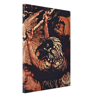 Mathis Gothart - The temptation of St Anthony Stretched Canvas Prints