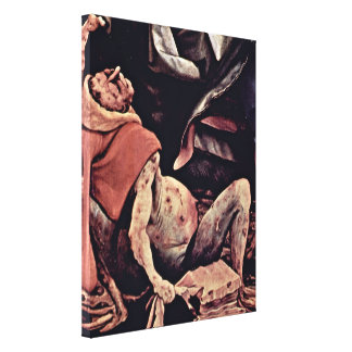 Mathis Gothart - The temptation of St Anthony Stretched Canvas Print