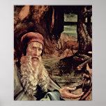 Mathis Gothart - visita del detalle de St Anthony Posters