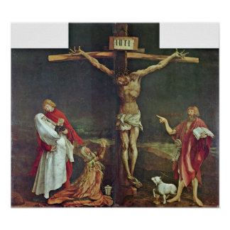 Mathis Grunewald Gothart - crucifixión de Cristo Impresiones