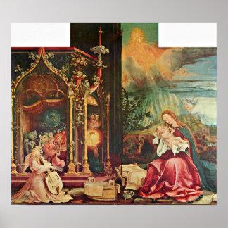 Mathis Grunewald Gothart - The birth of Christ Poster