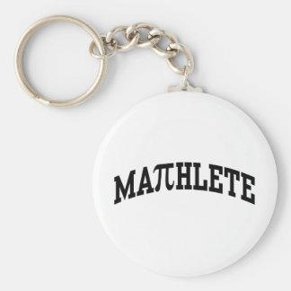 Mathlete Basic Round Button Keychain