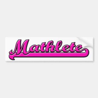Mathlete Etiqueta De Parachoque