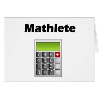 Mathlete Greeting Cards