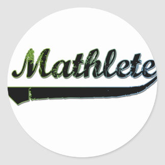 Mathlete Classic Round Sticker