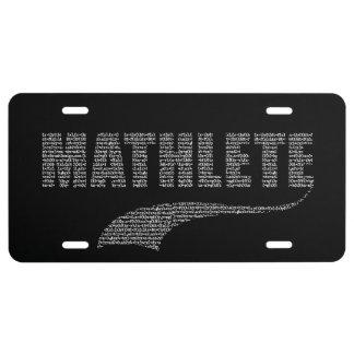 Mathlete License Plate