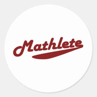 Mathlete Pegatinas Redondas