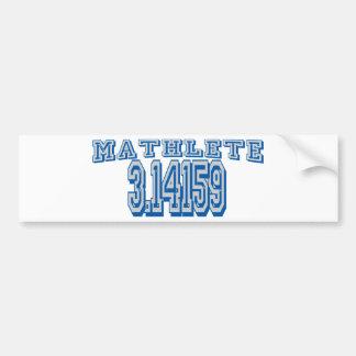 Mathlete Pi Car Bumper Sticker