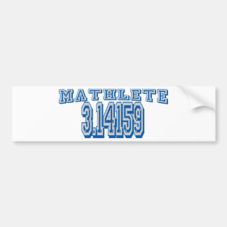 Mathlete Pi Bumper Sticker