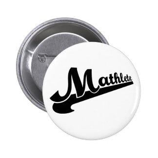 Mathlete slogan for math lovers button