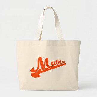 Mathlete slogan for math lovers large tote bag
