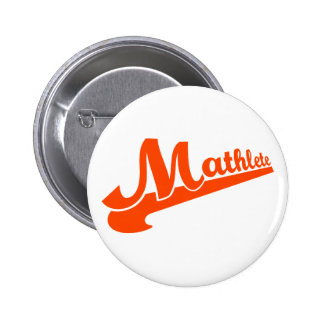 Mathlete slogan for math lovers pinback button