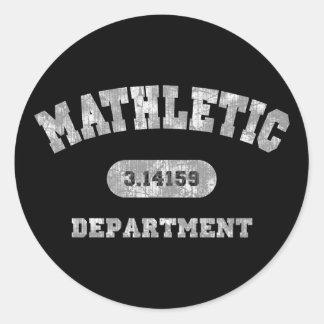 Mathletic Department Classic Round Sticker
