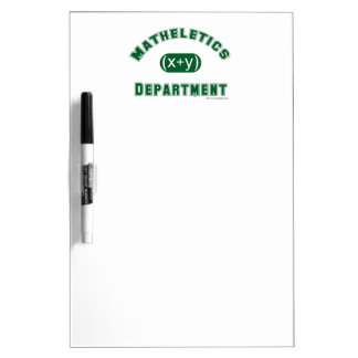 Mathletics Department Dry Erase White Board