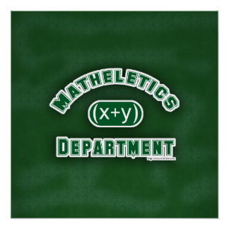 Mathletics Department Green Poster