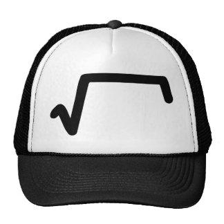 mathmatics root trucker hat