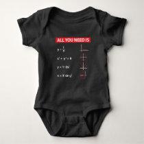 Maths Algebra Mathematics Teacher Gift Idea Baby Bodysuit