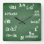 Maths Clock For Mathematics Lovers at Zazzle