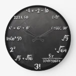 Maths Equation Clock (black) at Zazzle