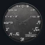 "Maths Equation Clock (Black)<br><div class=""desc"">This is how geeks see the time! Inspired from The Big Bang Theory&#39;s Sheldon Cooper. Some might also call it Sheldon Cooper Clock :D</div>"