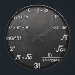 """Maths Equation Clock (Black)<br><div class=""""desc"""">This is how geeks see the time! Inspired from The Big Bang Theory&#39;s Sheldon Cooper. Some might also call it Sheldon Cooper Clock :D</div>"""