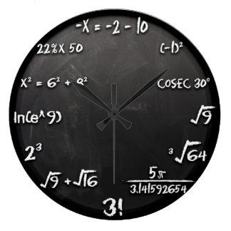 Maths Equation Clock (Black)