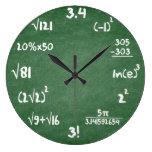 Maths Green Slate Mathematics Wall Clock at Zazzle