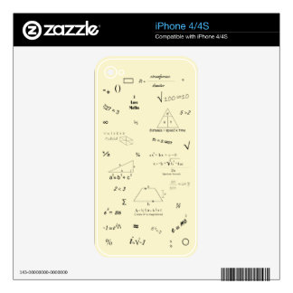 Maths iphone 4 4s Skin Skin For iPhone 4