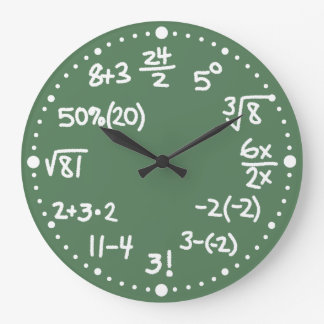 Maths Mathematical Equations Clock Version Two