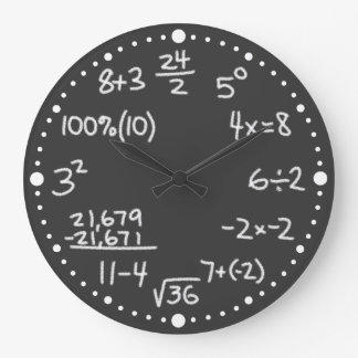 Maths Mathematical Equations Lover Black Clock