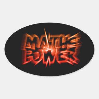 Maths power - Black Dark Style Calcomania Ovalada