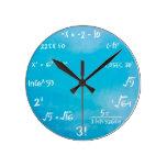 Maths Quiz Clock - Clock Blue at Zazzle