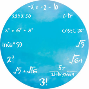 Math Wall Clocks | Zazzle