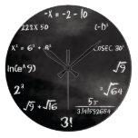 Maths Quiz Round Clock (custom) at Zazzle