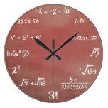 Maths Quiz Wall Clock at Zazzle