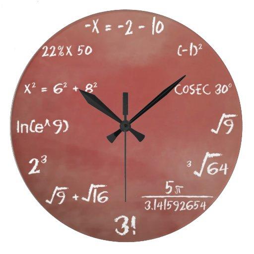 Math Clocks & Math Wall Clock Designs