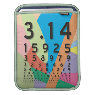 Maths the colorful mathematical constant of Pi Sleeve For iPads