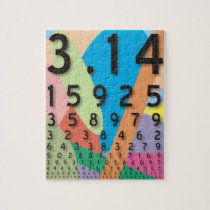 Maths: the colorful mathematical constant of Pi Jigsaw Puzzle