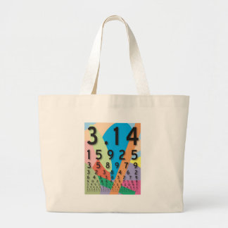 Maths: the colorful mathematical constant of Pi Large Tote Bag