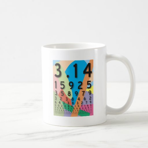 Maths: the colorful mathematical constant of Pi Mugs