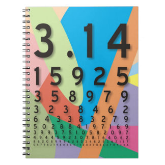 Maths: the colorful mathematical constant of Pi Note Book