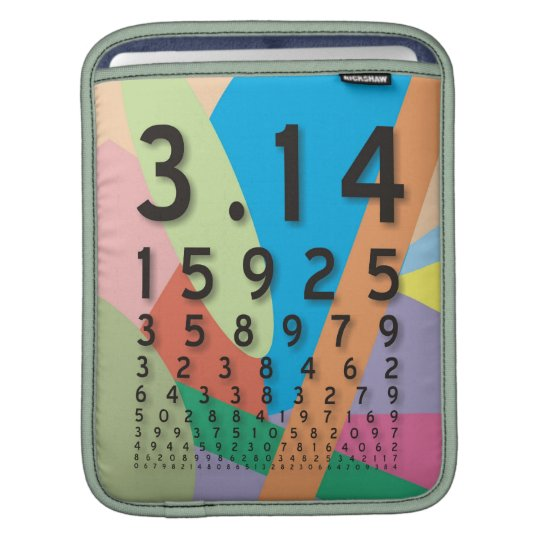 Maths: the colorful mathematical constant of Pi Sleeve For iPads