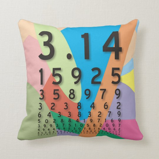 Maths: the colorful mathematical constant of Pi Throw Pillow