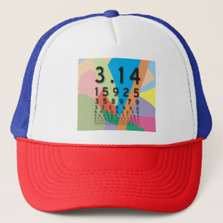 Maths: the colorful mathematical constant of Pi Trucker Hat